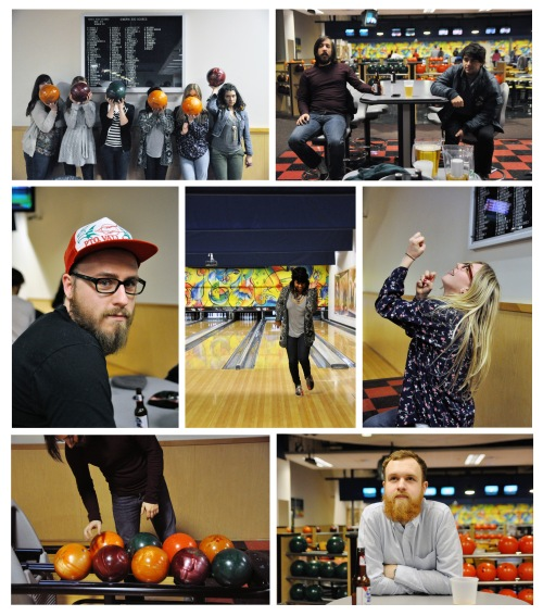 Next day, the Quills' crew went out for bowling